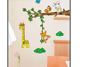 Zsiráf és barátai falmatrica (A zsiráf kb. 40 cm magas)