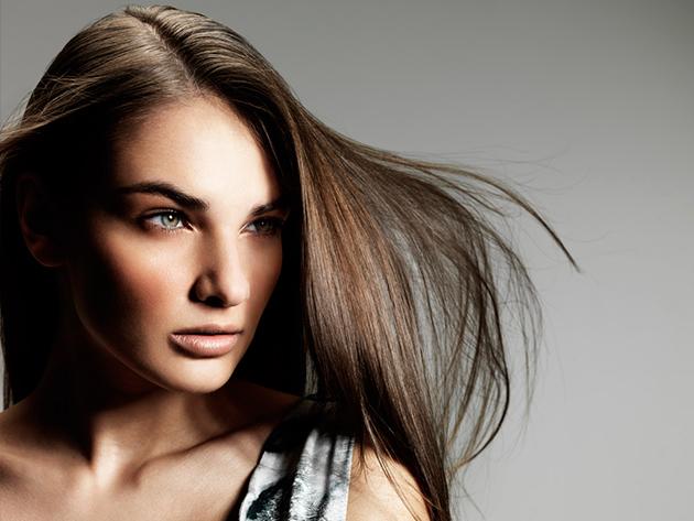 Melegollós wellness hajvágás, hajszerkezet javító pakolással