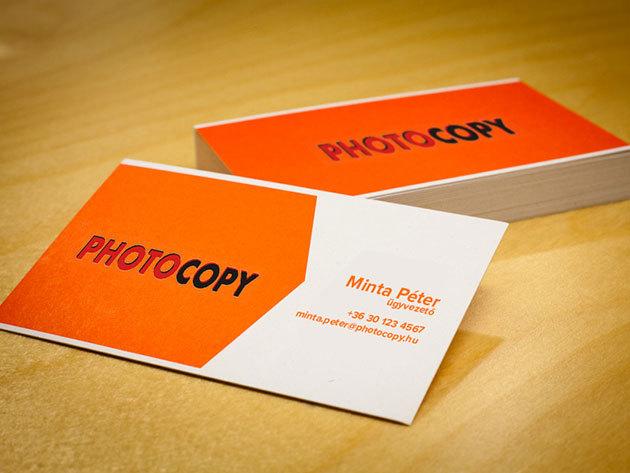 100 db színes névjegykártya, akár laminált kivitelezésben is a Photocopy-tól!