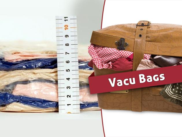 A vákuumos tárolózsák használatával rendezett lesz a szekrényed és az utazódba is több ruha fog férni!