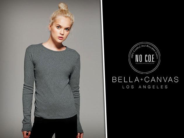 Légy stílusos a Bella & Canvas különlegesen puha pamut, hosszú ujjú női pólóidban!