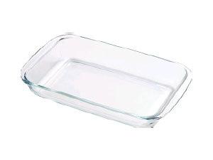 Hőálló üvegtál, szögletes, 2,4 l BL-2015