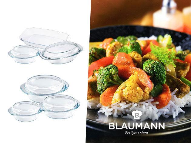 BLAUMANN hőálló üvegtálak különböző méretekben, akár fedővel is!