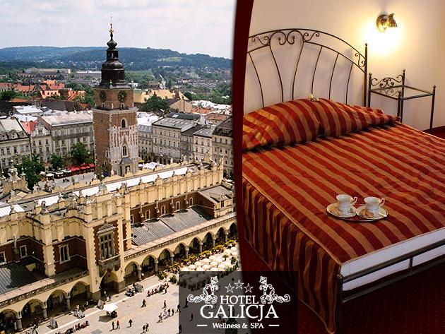 3 nap Krakkó közelében, Wieliczkaban a Hotel Galicja-ban 2 fő részére reggelivel + 1 vacsorával!