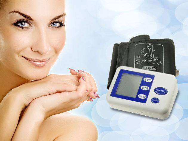 Egyszerűen kezelhető, digitális kijelzőjű automata vérnyomásmérő!