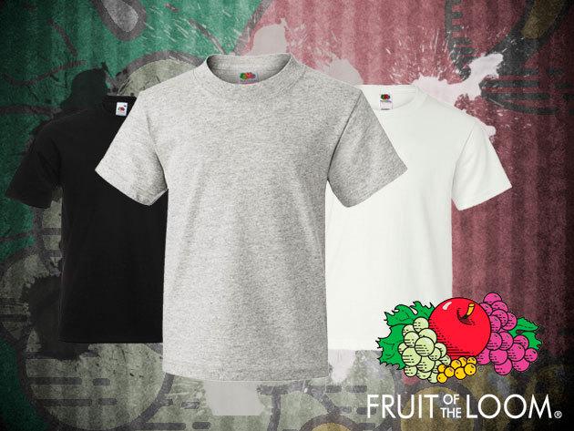 3 db 100% pamut Fruit of the Loom férfi póló fekete, fehér és szürke színben!