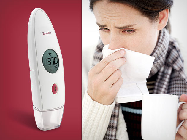 Terrailon Multithermo 2:1 lázmérő – fülhőmérő és homlokhőmérő egyben!