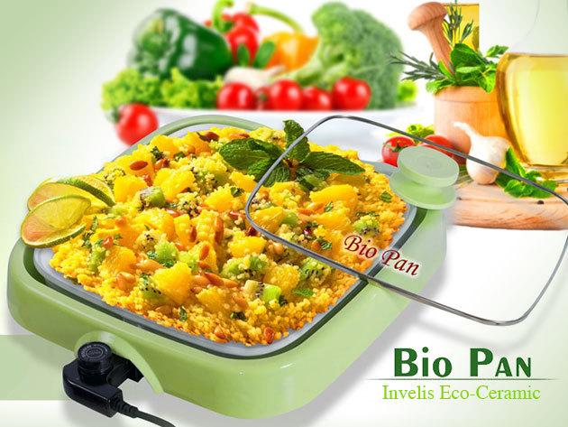 Bio Pan univerzális, elektromos serpenyő kerámia bevonattal!