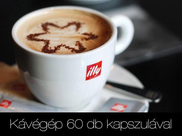 ILLY kávégép ingyenes használatra 60 db kapszulával
