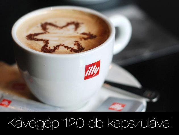 ILLY kávégép ingyenes használatra 120 db kapszulával