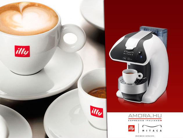 ILLY kávégép ingyenes használatra 60 db vagy 120 db kapszulával!