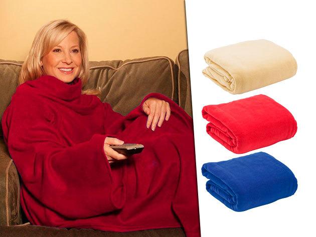 Poncsóként felvehető, polár anyagú Manga takaró több színben - a hideg téli estékre!