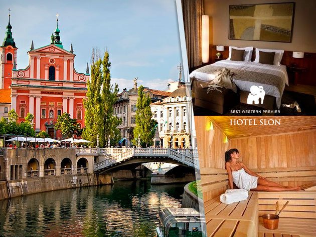Irány Szlovénia: Belvárosi szállás 2 fő részére 3 nap/2 éj reggelivel Ljubljanában: Best Western Premier Hotel Slon****