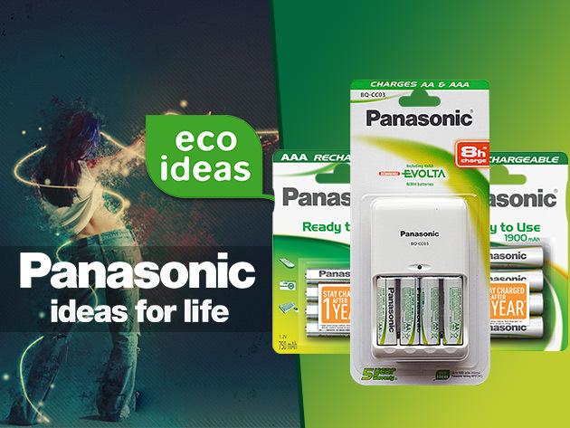 Panasonic azonnal használható akkumulátorok és gyorstöltők!