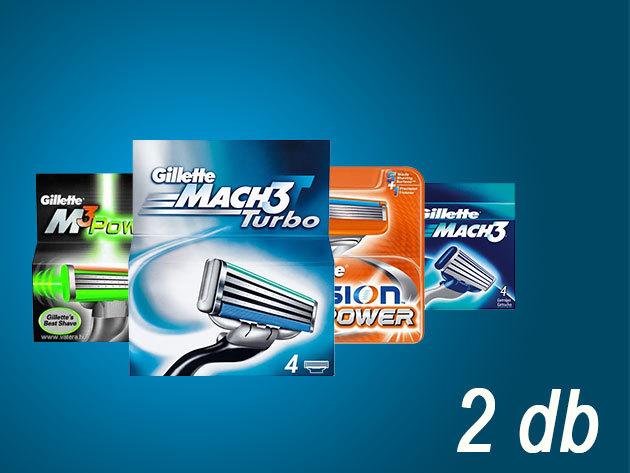 Választható Gillette borotva betétek (Dupla csomag)