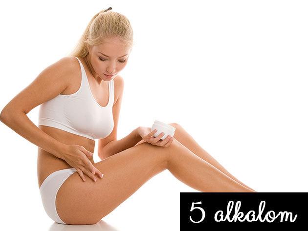 5 alkalmas lipolézeres zsírbontó kezelés (8 pados géppel) gépi nyirokmasszázzsal (30+30 perc)