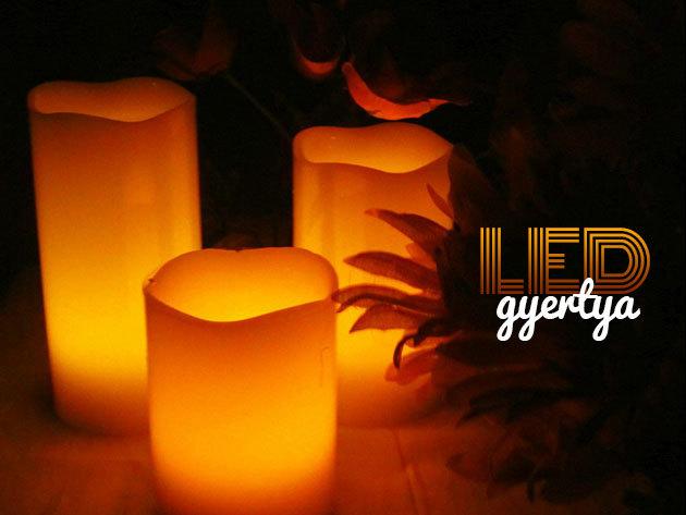 2 db nagyméretű LED gyertya - Emlékezzünk szeretteinkre!