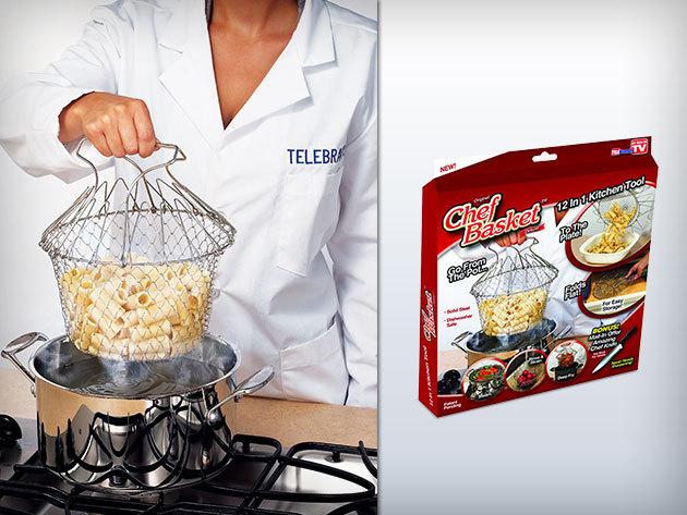 Chef Basket – praktikus főző-, sütő- és párolókosár az egyszerűbb étlekészítésért!