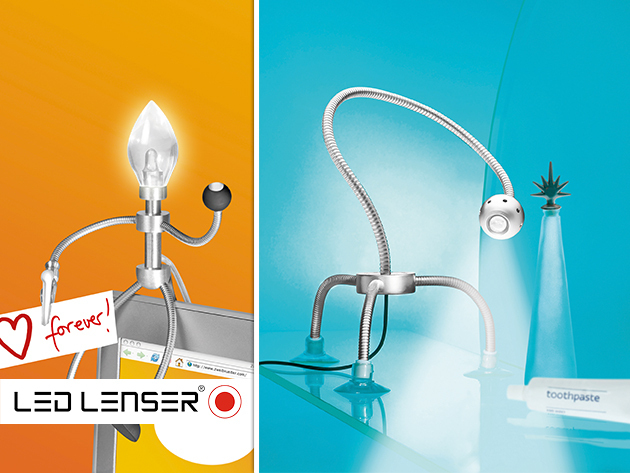 Furfangos LED LENSER Moppel lámpa-figurák! A fény új világa!
