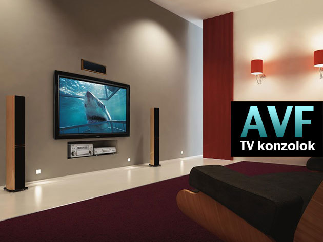 AVF fali TV konzolok és festhető kábelvezető LCD és Plazma televíziókhoz!