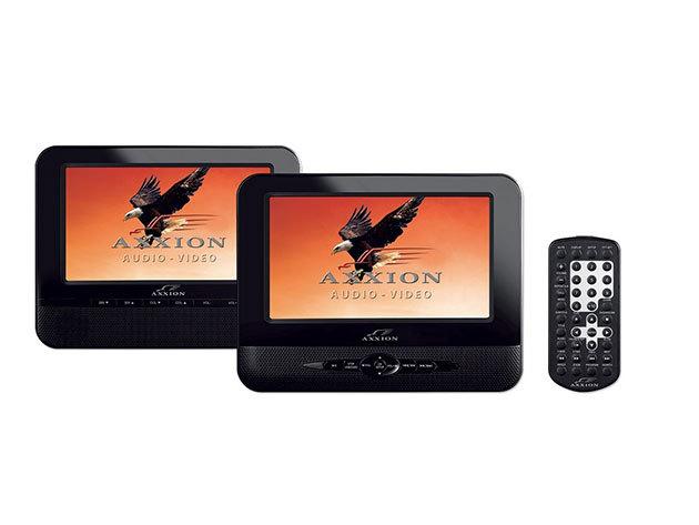 """Axxion Autós Dupla dvd játszó 2 db 7"""" kijelzővel, USB, SD olvasás, Divx"""