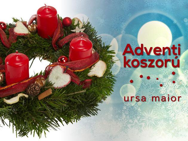 Adventi koszorú választható színben, a meghitt ünnepi készülődéshez!