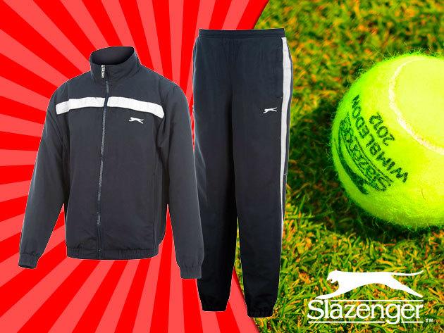 Sötétkék Slazenger Woven férfi szabadidő ruha – nem csak sportoláshoz!