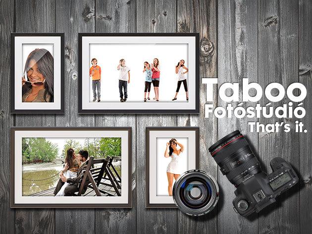 Két órás fotózás stylist segítsével a Taboo Fotóstúdióban: 100 db nyerskép + 5 db retusált fotó!