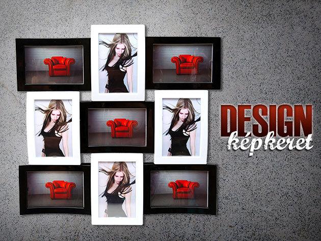 Design képkeret kétféle méretben – 4, illetve 9 fotó elhelyezésére!