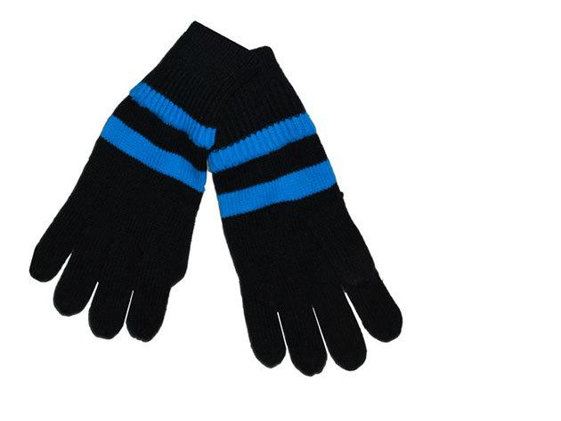 Fundango unisex kesztyű, Méret: L/XL Anyag: 100% akril (Fekete, kék csíkos, 9EH113 890)