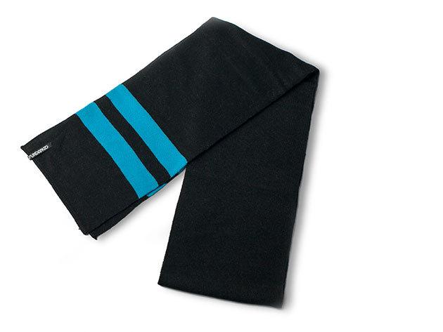 Fundango unisex sál, Méret: L/XL Anyag: 100% akril (Fekete, kék csíkos, 9EH114 890)