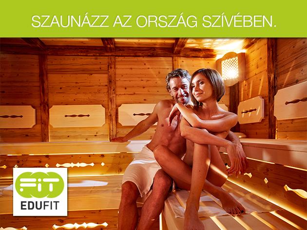 12 alkalmas infraszauna bérlet, vagy 80 perc szauna szoba használat akár 8 fő részére az Edufit Wellness Központban!