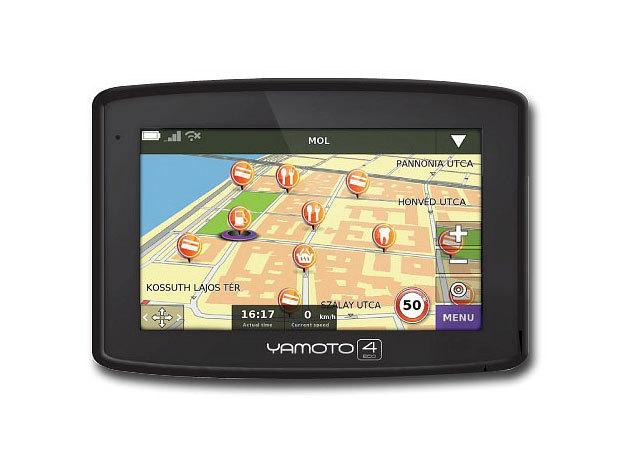 "Yamoto Four ECO Autós navigáció 4,3"" kijelző"