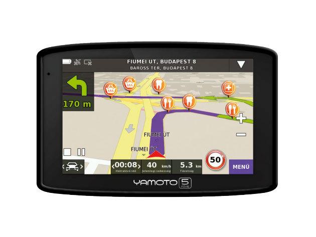 """Yamoto Five Autós navigáció 5"""" kijelző - 2013-as modell"""