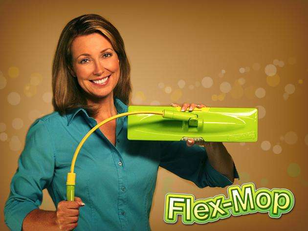 FLEX-MOP hajlítható nyeles felmosó világító fejjel, a nehezen elérhető, sötét sarkok tisztán tartásához is!