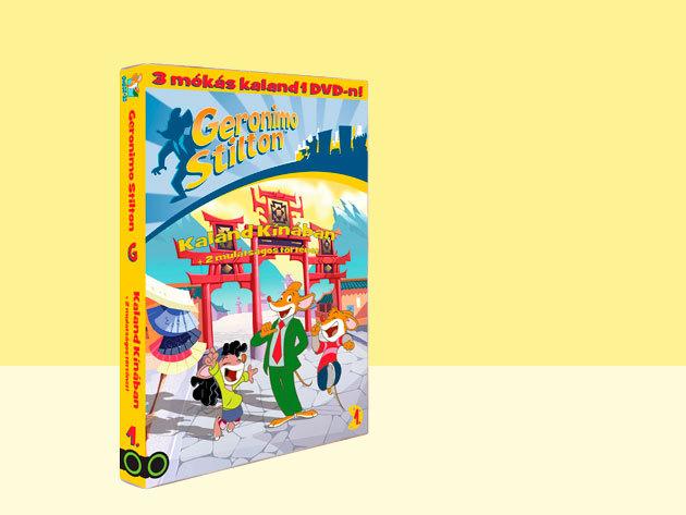 Geronimo Stilton 1.-es DVD - Kaland Kínában + 2 mókás kaland - AZONNAL ÁTVEHETŐ