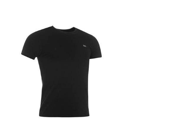 Lonsdale Single férfi altéta póló - fekete