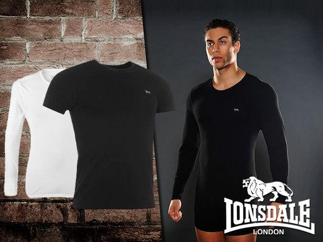 Lonsdale Single alsóruházatként is viselhető rövid és hosszú ujjú férfi pólók!