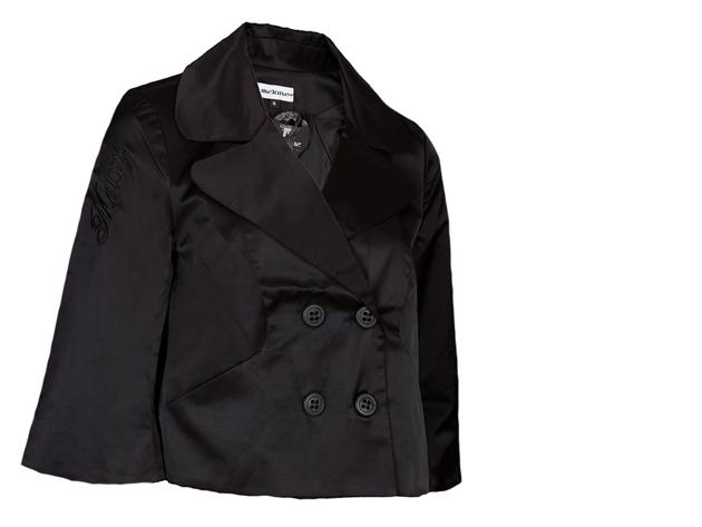 A vonalú kabát (fekete)