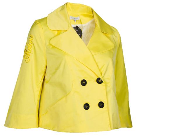 A vonalú kabát (citromsárga)