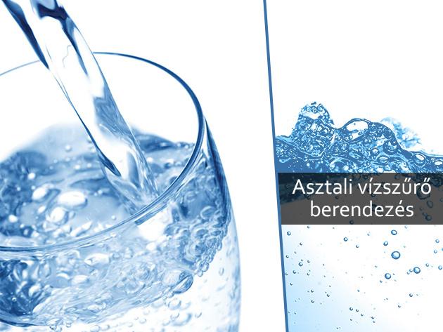 Asztali vízszűrő KDF-fel dúsított kombi szűrőbetéttel - Tiszta vizet mindenkinek az egészségesebb mindennapokért!
