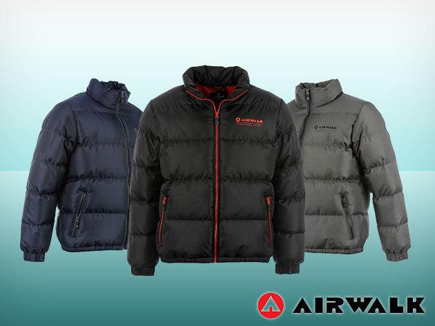 Airwalk Bubble férfi téli kabát fekete, szürke és sötétkék színben!