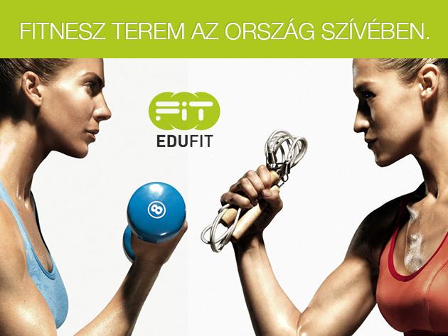 Érd el álomalakodat az EduFit edzőteremben a belvárosban, a havi délelőtti bérleteddel!