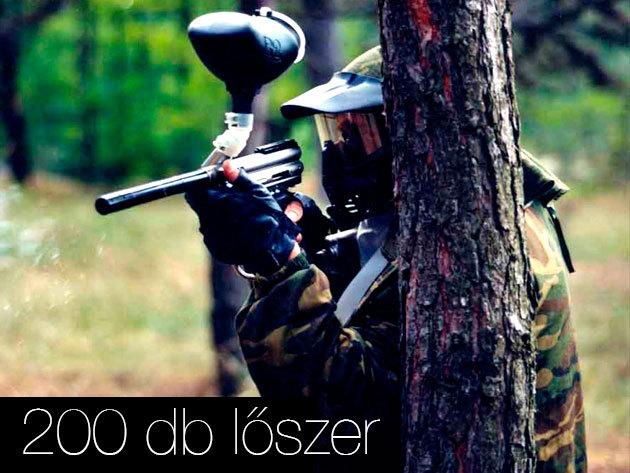 Paintball játék (200 db lőszert is magában foglal. További lőszerek: 12 Ft/db)