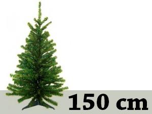 Zöld, rövid tűlevelű, tömött (150 cm) + 8db gömb + 1db csúcsdísz