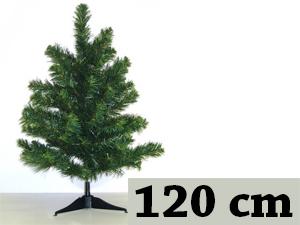 Zöld, hosszú tűlevelű, tömött (120 cm) + 8db gömb + 1db csúcsdísz