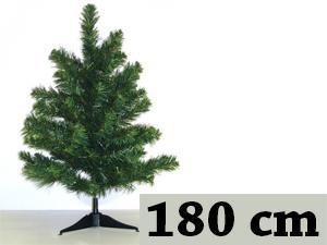 Zöld, hosszú tűlevelű, tömött (180 cm) + 17db gömb + 1db csúcsdísz