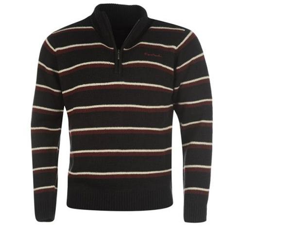 Pierre Cardin kötött férfi pulóver - barna