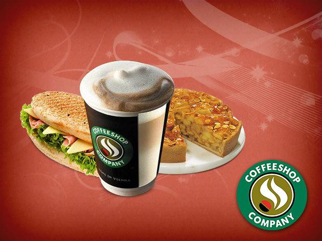 Coffeeshop Company: Latte karácsonyi ízvarázs + almatorta + Pannini a Mammut 2-ben!