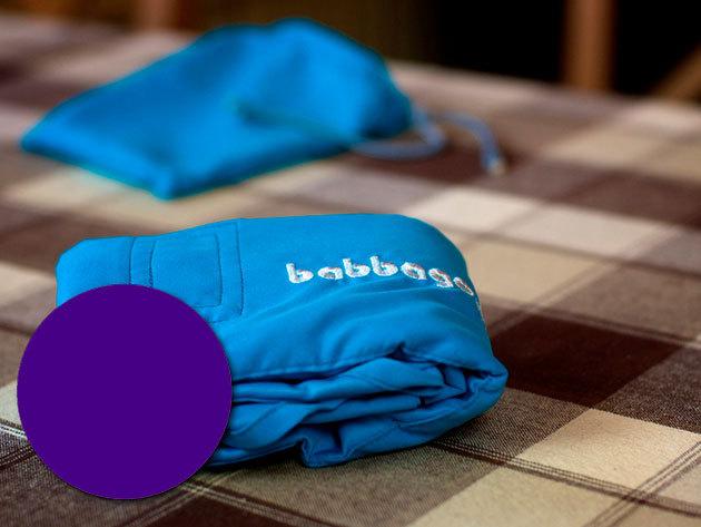 babbago - székre tehető textil etetőszék - Püspöklila